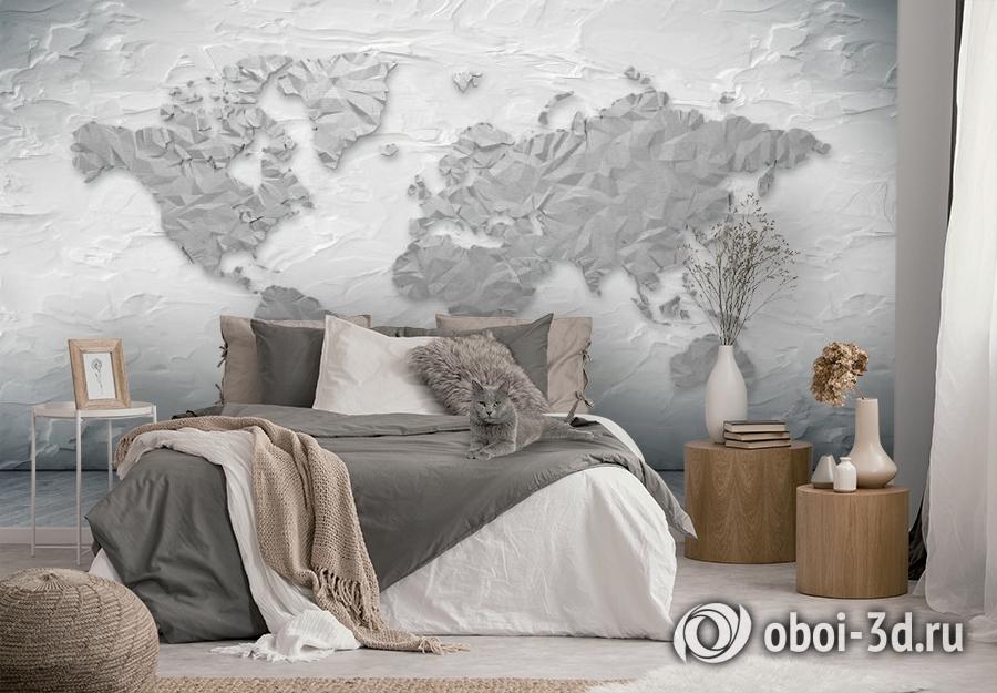 3D Фотообои «Карта лофт» вид 2
