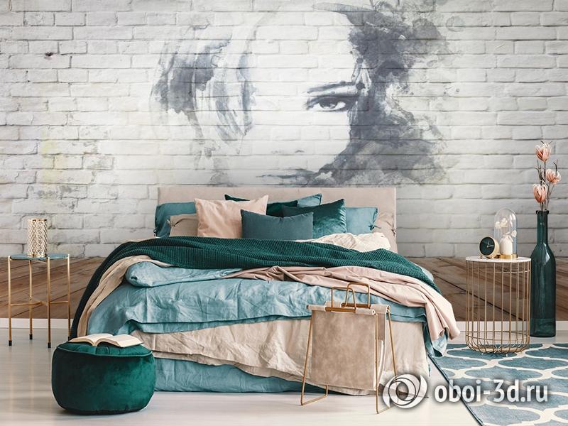 3D Фотообои «Портрет на стене» вид 7