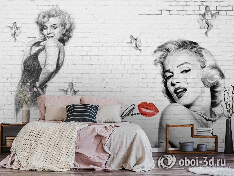 3D Фотообои «Мэрилин Монро. Настенная роспись» вид 6