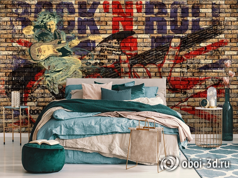 3D Фотообои «Rock N Roll» вид 7