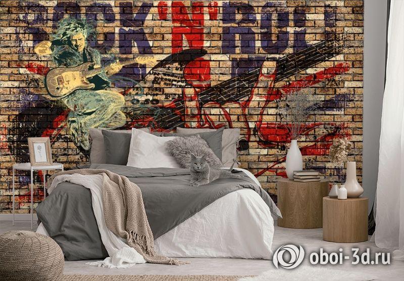 3D Фотообои «Rock N Roll» вид 2