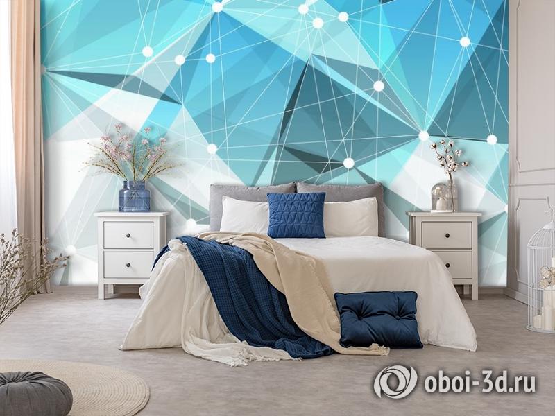 3D Фотообои «Голубая абстракция» вид 5