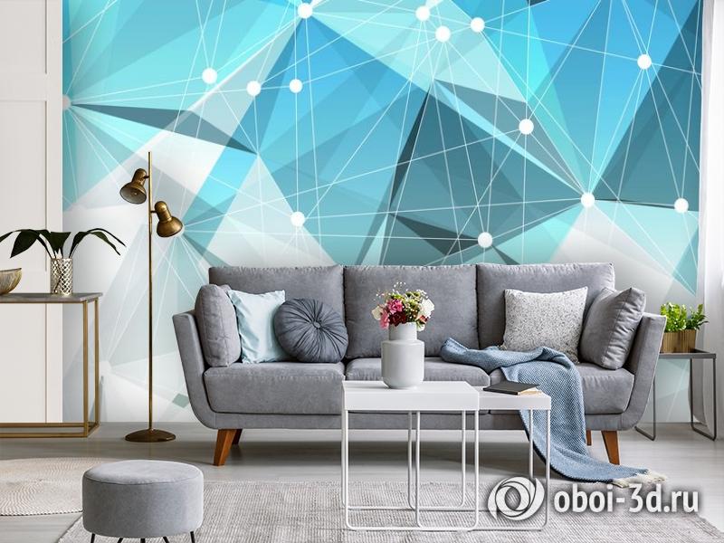 3D Фотообои «Голубая абстракция» вид 3