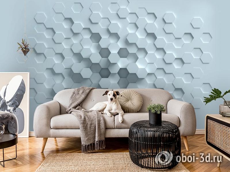 3D Фотообои «Сетка многогранников» вид 7