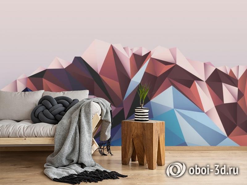 3D Фотообои «Полигональная гора» вид 2