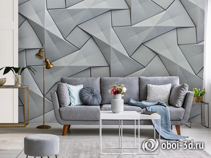 3D Фотообои «Мозаика из квадратов» вид 3
