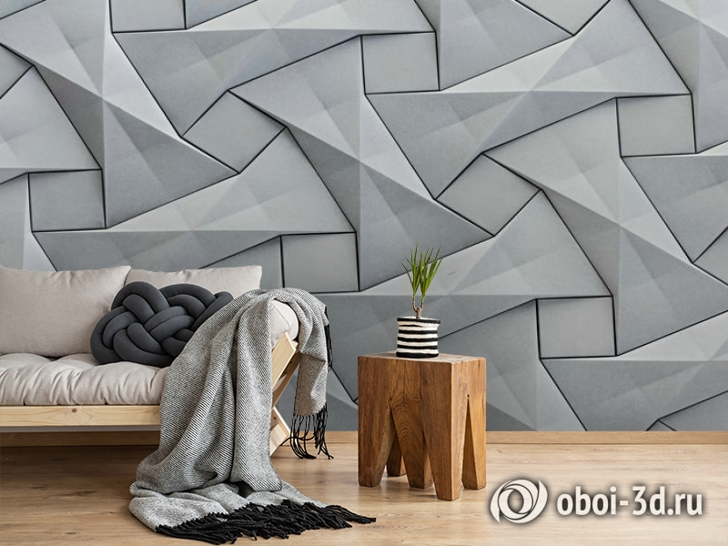 3D Фотообои «Мозаика из квадратов» вид 2