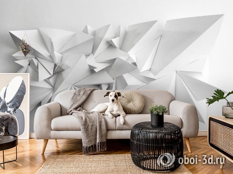 3D Фотообои «Острые полигоны» вид 7