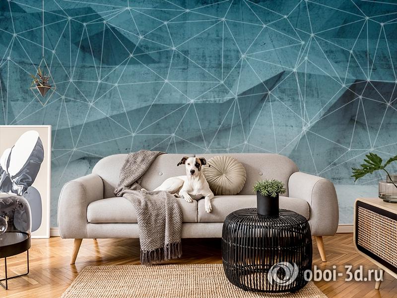 3D Фотообои «Полигоны с сеткой» вид 7