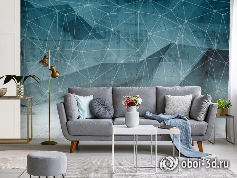 3D Фотообои «Полигоны с сеткой» вид 3