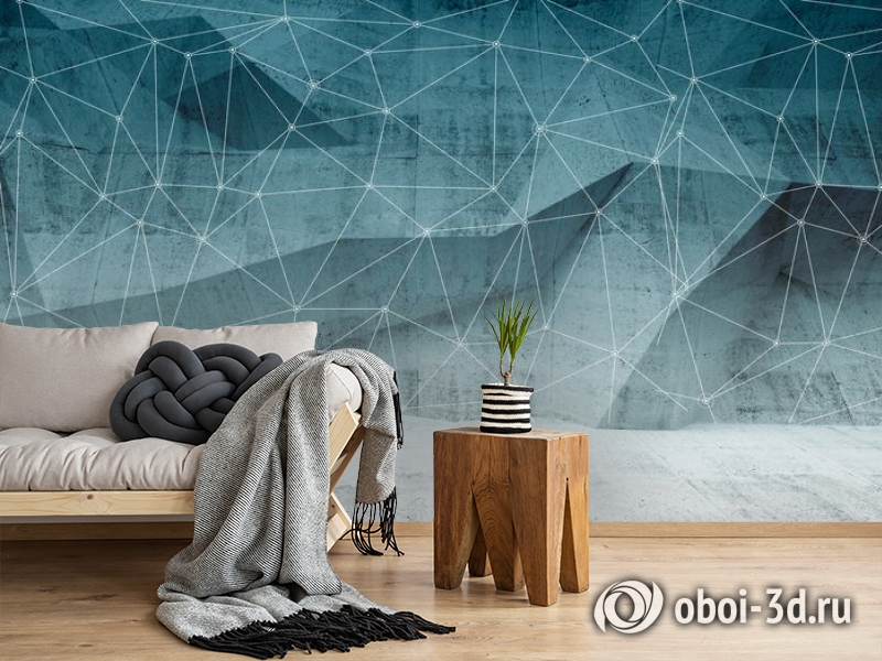 3D Фотообои «Полигоны с сеткой» вид 2