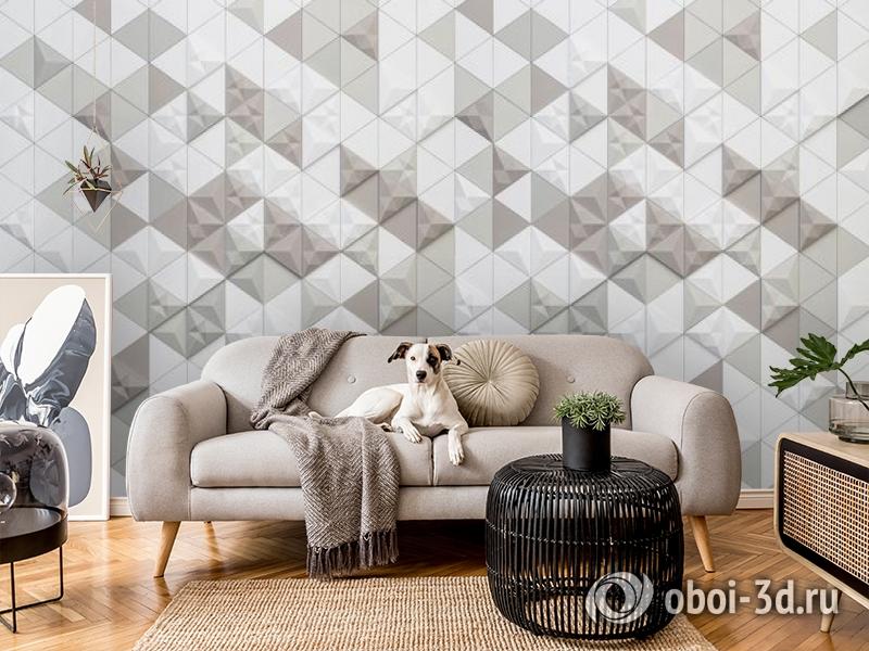 3D Фотообои «Треугольная мозаика» вид 7