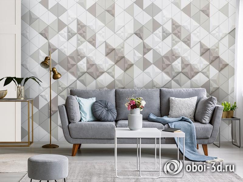 3D Фотообои «Треугольная мозаика» вид 3