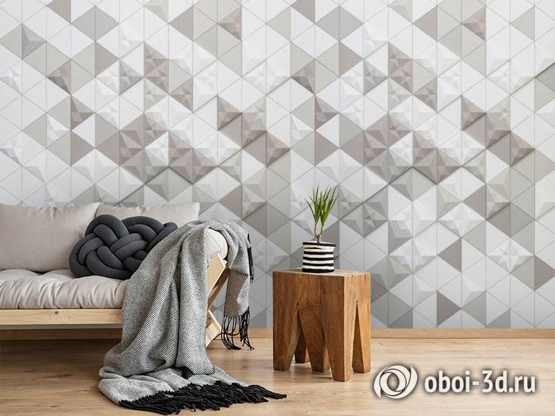3D Фотообои «Треугольная мозаика» вид 2
