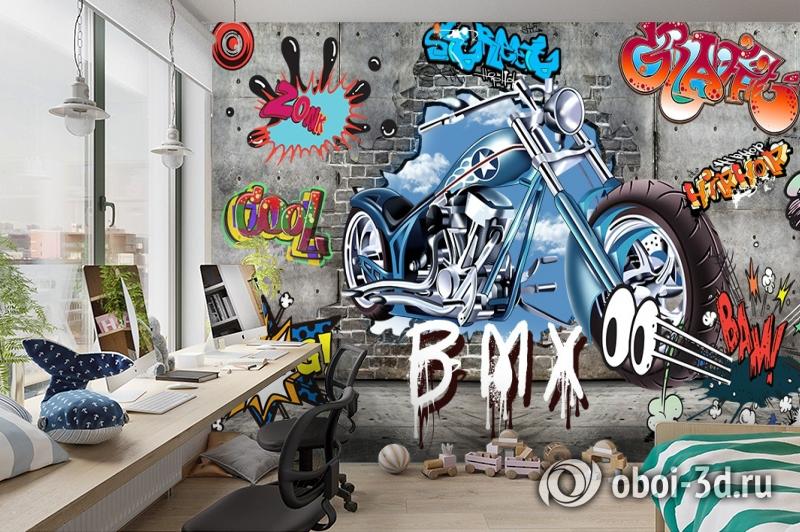 3D Фотообои «Байк» вид 3