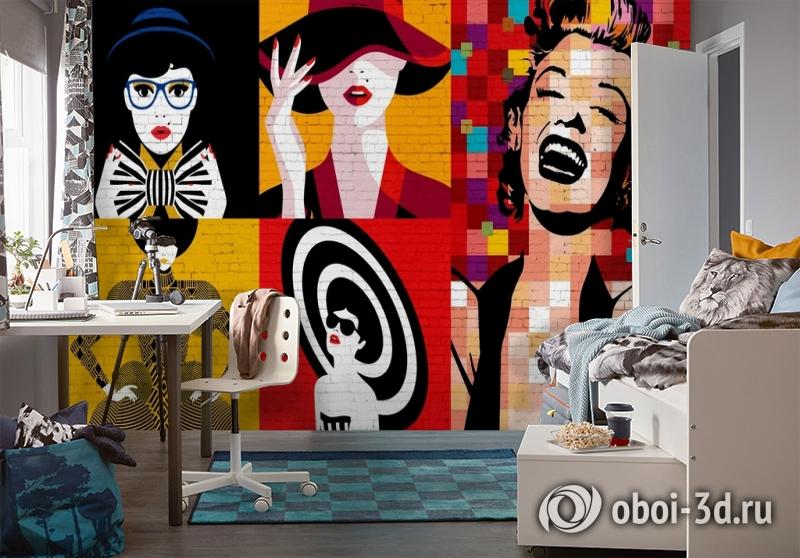 3D Фотообои «Мэрилин поп арт» вид 4