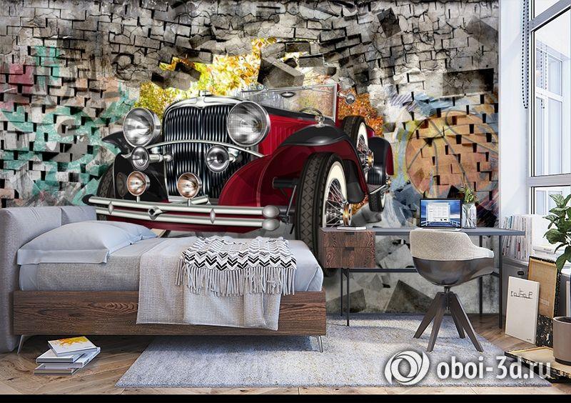 3D Фотообои «Ретро кар» вид 5