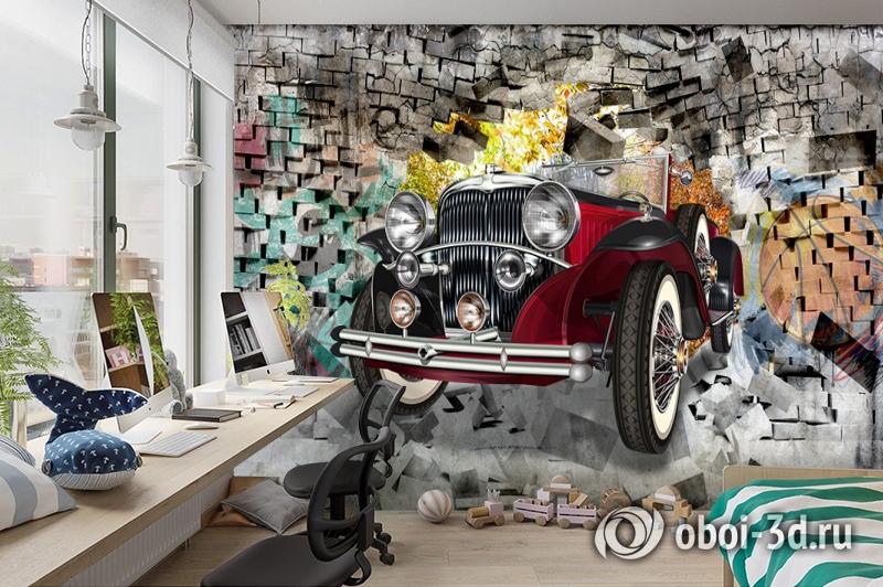 3D Фотообои «Ретро кар» вид 3