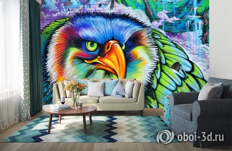 3D Фотообои «Хищный орел» вид 6