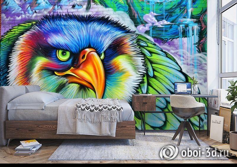 3D Фотообои «Хищный орел» вид 5