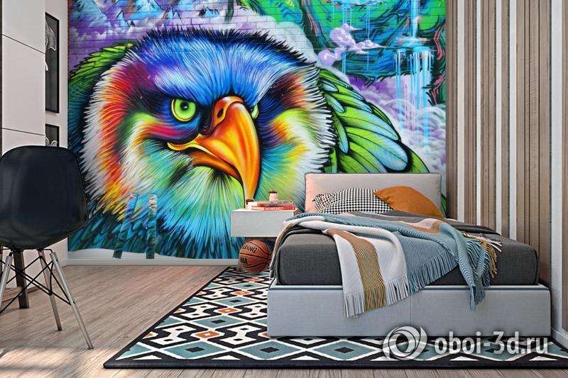 3D Фотообои «Хищный орел» вид 2
