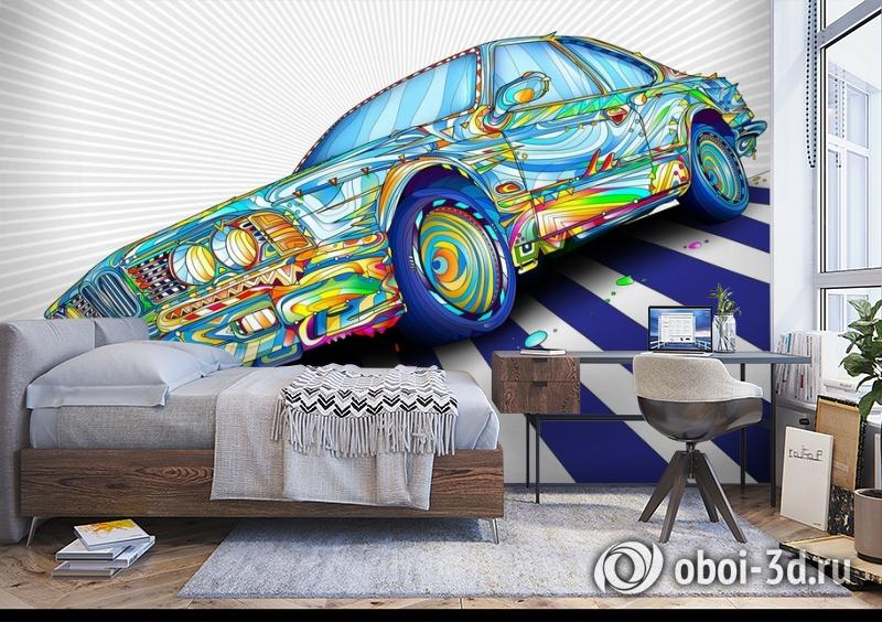 3D Фотообои «Красочный бумер» вид 5