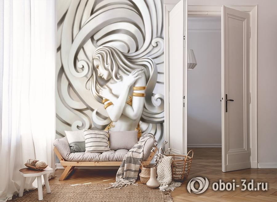 3D Фотообои «Стеснительная красавица» вид 8