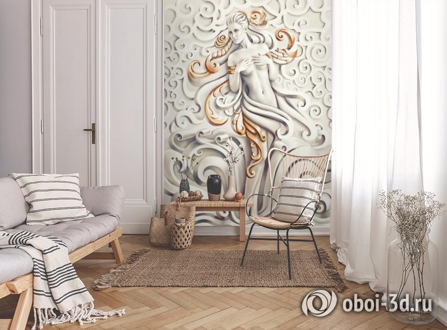 3D Фотообои «Барельеф морская принцесса» вид 9