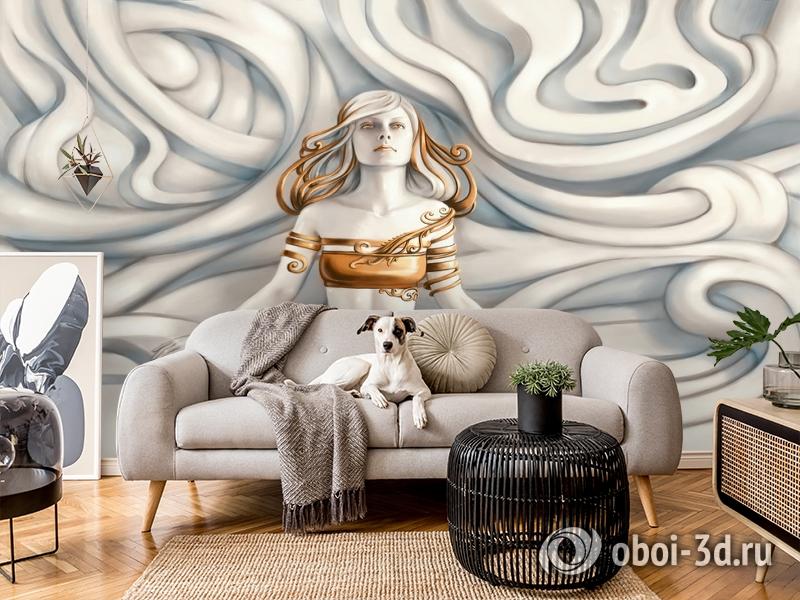 3D Фотообои «Барельеф морская владычица» вид 5