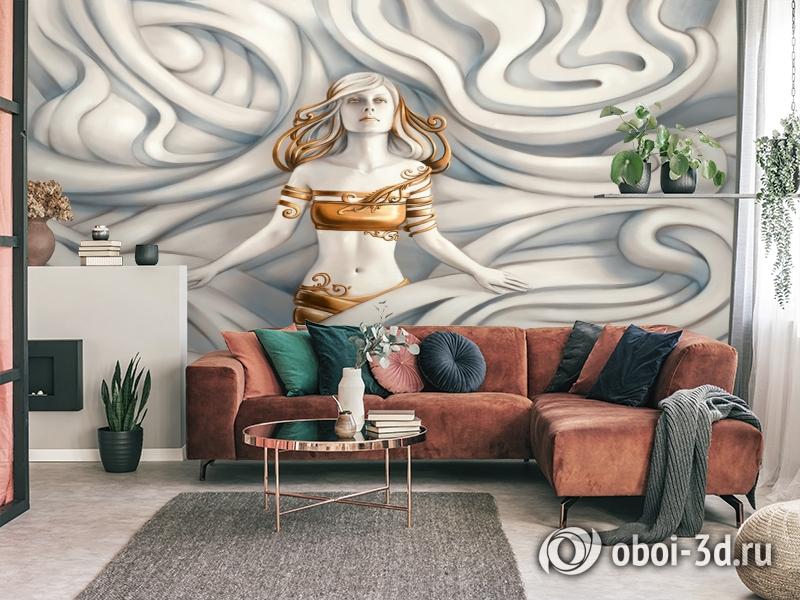3D Фотообои «Барельеф морская владычица» вид 4