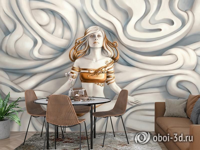 3D Фотообои «Барельеф морская владычица» вид 3