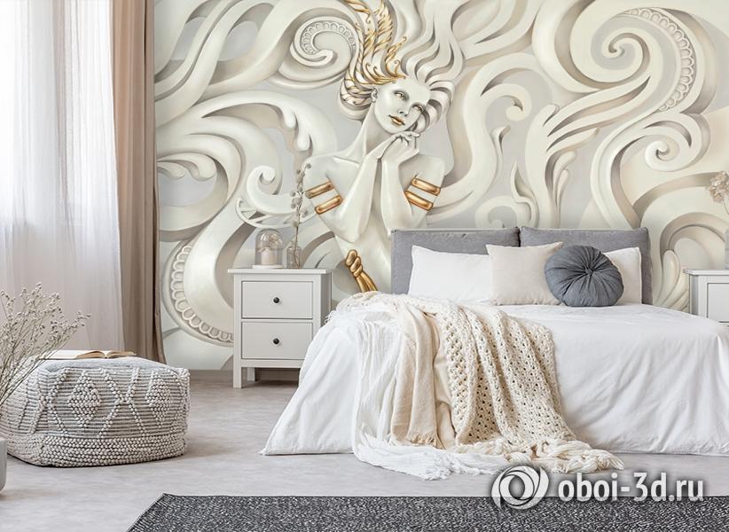 3D Фотообои «Мечтающая богиня» вид 6