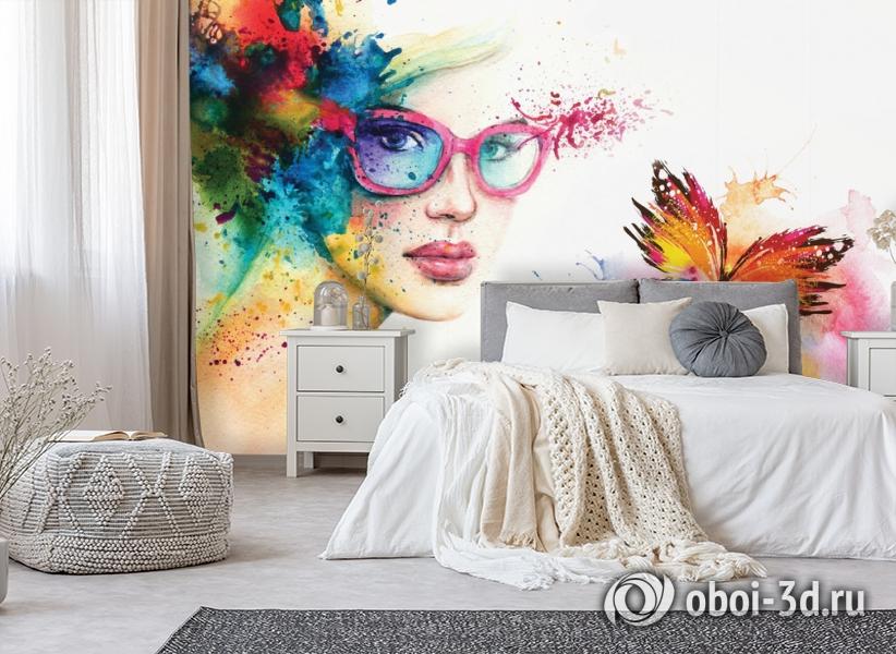 3D Фотообои «Девушка с бабочкой» вид 6