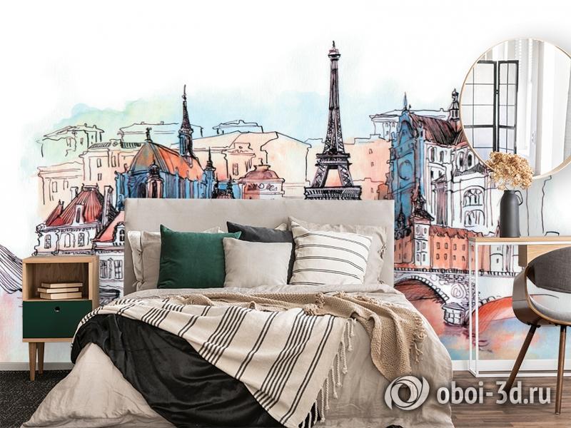 3D Фотообои «Париж акварелью» вид 2