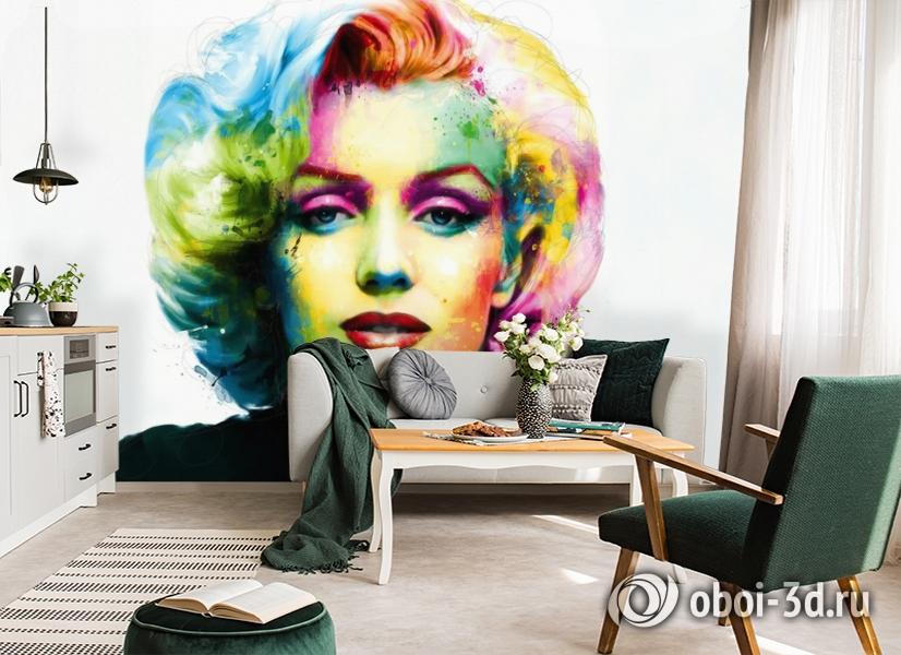 3D Фотообои «Красочная монро» вид 5