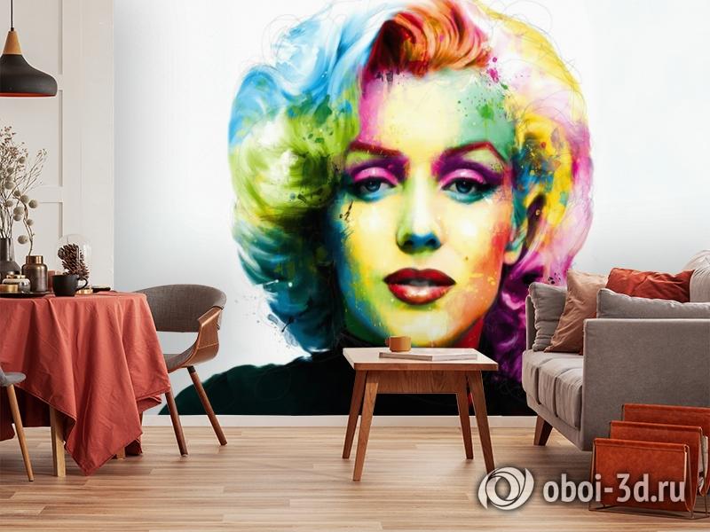 3D Фотообои «Красочная монро» вид 3