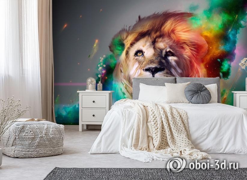 3D Фотообои «Царь зверей» вид 6