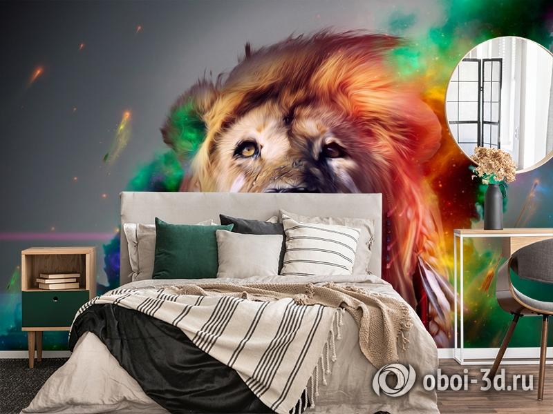 3D Фотообои «Царь зверей» вид 2