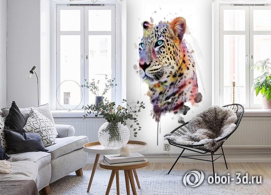3D Фотообои «Красочный леопард» вид 4