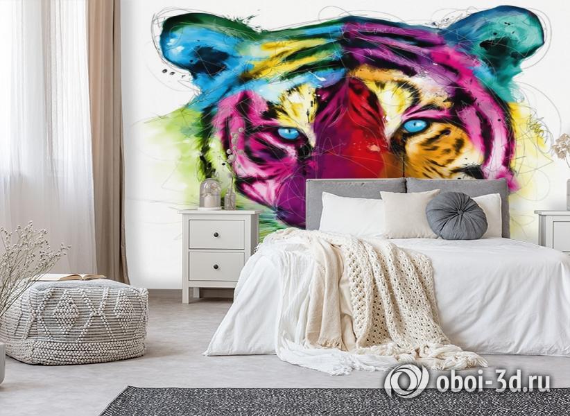 3D Фотообои «Красочный тигр» вид 6