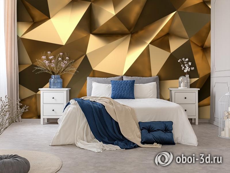 3D Фотообои «Роскошные полигоны» вид 5