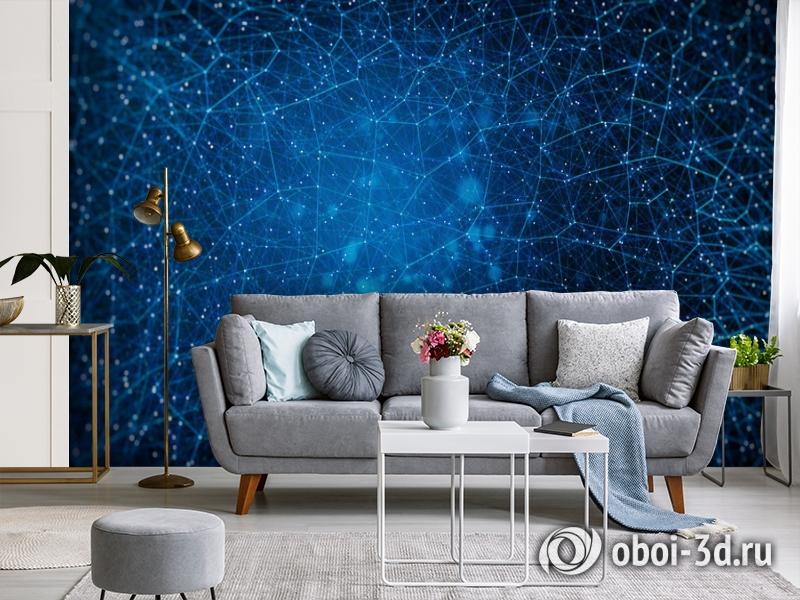 3D Фотообои «Космическая геометрия» вид 3