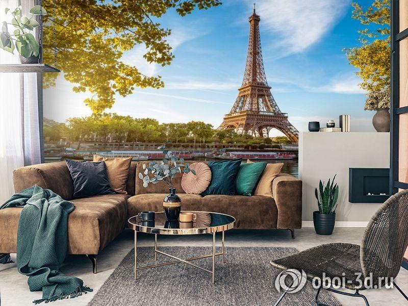 3D Фотообои «Лето в Париже» вид 7