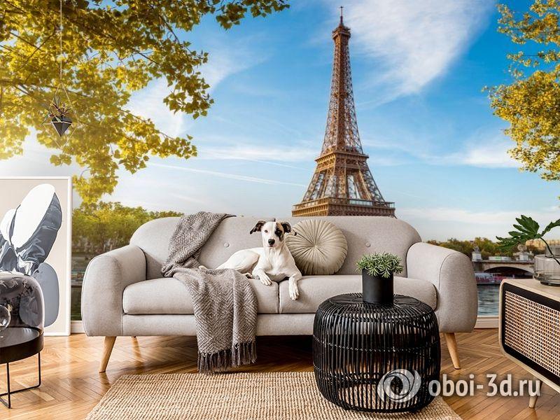 3D Фотообои «Лето в Париже» вид 4