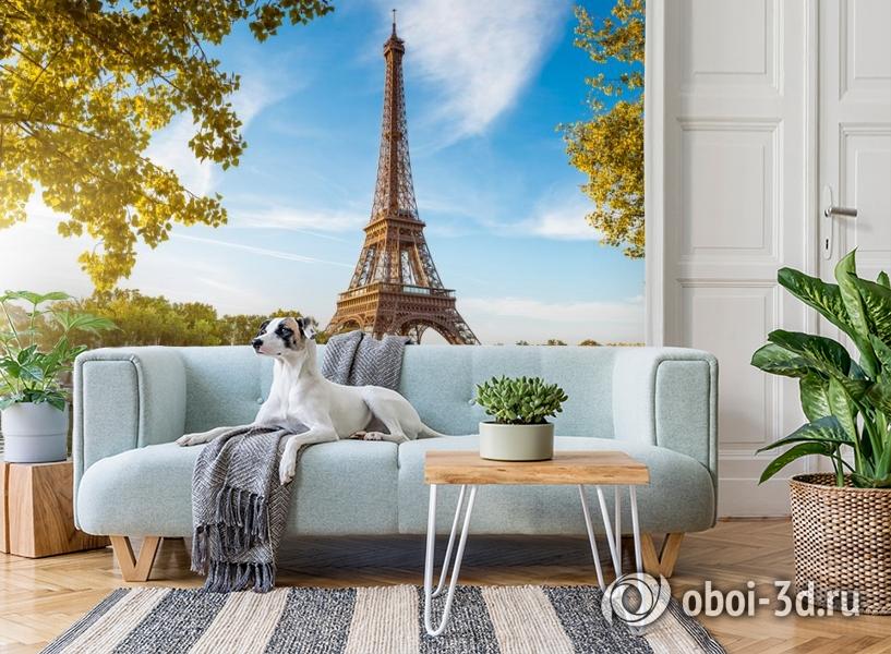3D Фотообои «Лето в Париже» вид 2