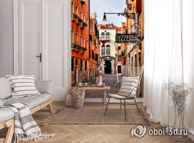 3D Фотообои «Венецианская улочка» вид 9