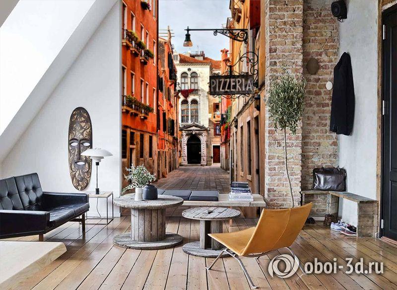 3D Фотообои «Венецианская улочка» вид 7