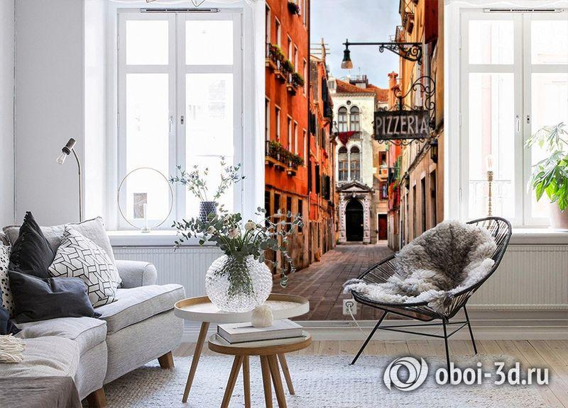 3D Фотообои «Венецианская улочка» вид 4