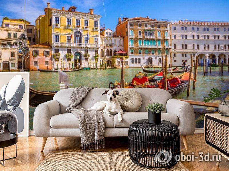 3D Фотообои «Яркий полдень в Венеции» вид 4