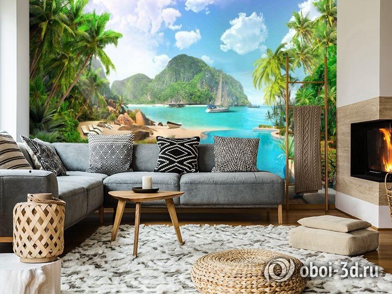 3D Фотообои «Курортный островок» вид 5